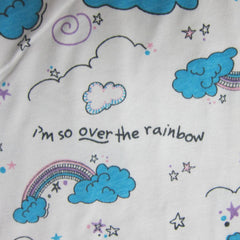 So Over the Rainbow on White Cotton Jersey