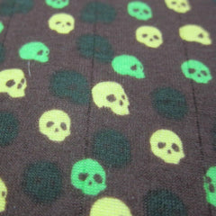 Small Skulls on Brown Cotton Rib