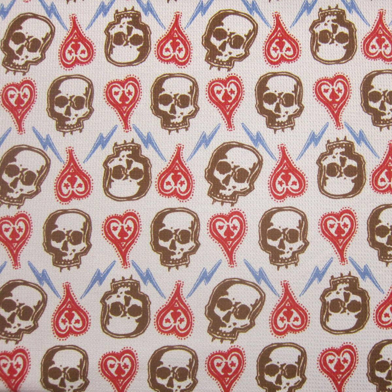 Skulls on Blue Cotton Thermal