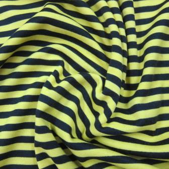 Yellow and Black Stripe on Poly/Spandex Jersey