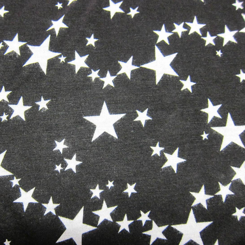 Milky Way on Black Cotton/Poly Jersey