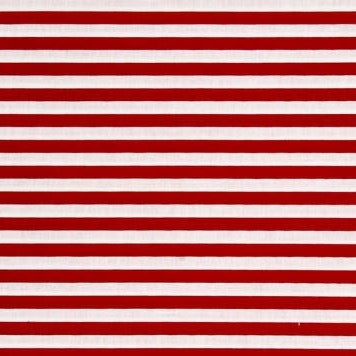 "Red and White 3/8"" Yarn Dyed Stripes on Cotton Jersey"
