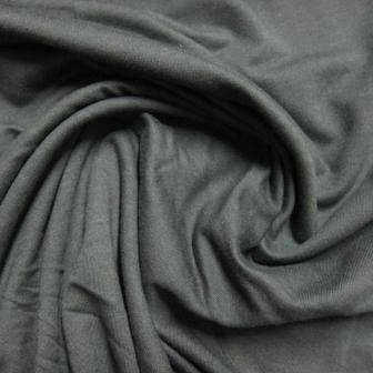 Dark Gray Bamboo Stretch French Terry - 300 GSM
