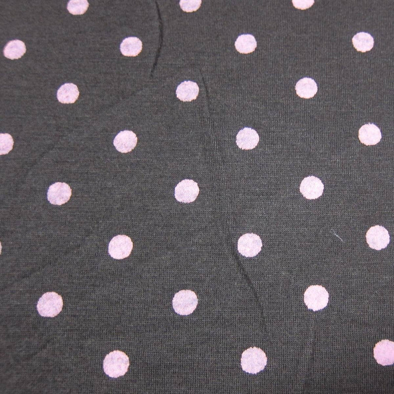 Distressed Pink Dots on Brown Cotton/Poly Jersey