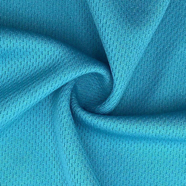 Turquoise Polyester Athletic Wicking Jersey