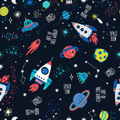 Space Fun 1 mil PUL - Made in the USA - Nature's Fabrics