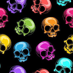 Rainbow Skulls 1 mil PUL - Made in the USA - Nature's Fabrics