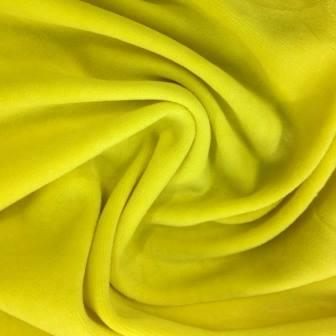 Yellow Organic Cotton Velour