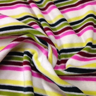 Rainbow Stripe Cotton Velour