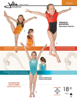 Jalie Pattern 2443 Gymnastics Leotard with Crossover Back