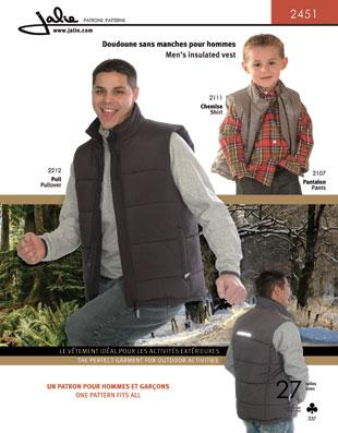 Jalie Pattern 2451 Men's Insulated Vest