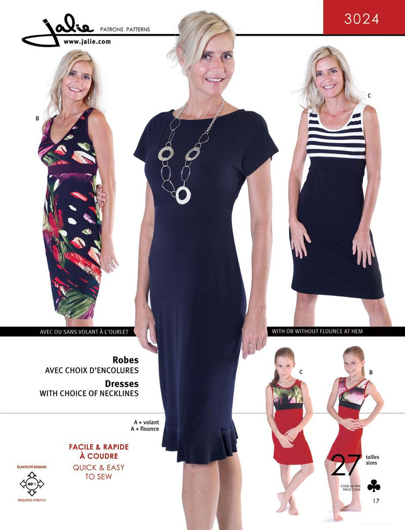Jalie Pattern 3024 Knit Dresses