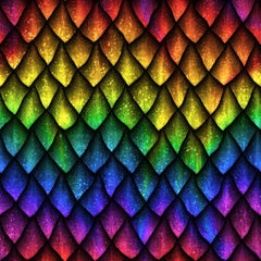Rainbow Dragon Scales on Bamboo/Spandex Jersey