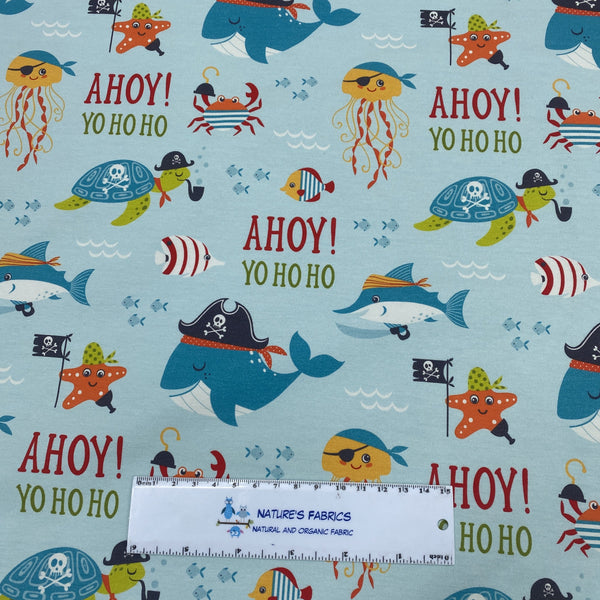 Ahoy Mate on Organic Cotton/Spandex Jersey