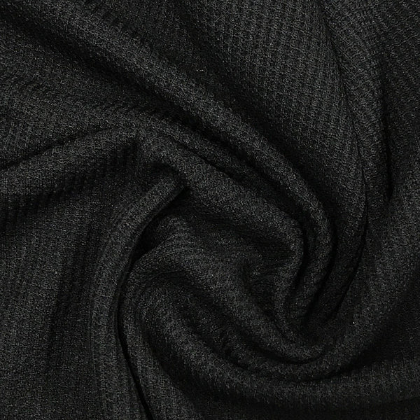 Black Cotton Thermal - Medium Weight