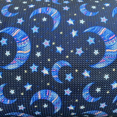 Moon and Stars on Navy Bullet Knit