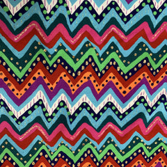 Dotty Zig Zag on Bamboo/Spandex Jersey - Nature's Fabrics
