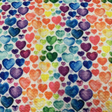 Watercolor Hearts on Bullet Knit - Nature's Fabrics