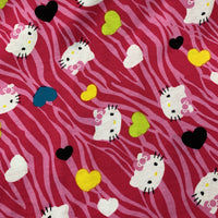 HK on Pink Cotton Jersey - Nature's Fabrics