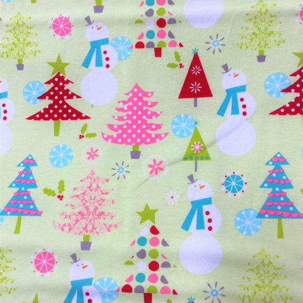 Christmas Main Lime Cotton/Spandex Jersey