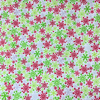 Holidays Flakes Multi Cotton/Spandex Jersey