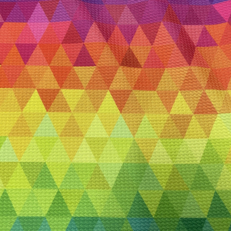 Rainbow Geometric on Bullet Knit