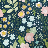 Flower Garden on Bullet Knit - Nature's Fabrics