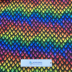 Rainbow Dragon Scales on Bullet Knit