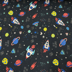 Space Fun on Bullet Knit - Nature's Fabrics