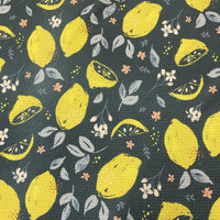 Vintage Lemons on Bullet Knit - Nature's Fabrics