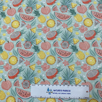 Tropical Fruit on Bullet Knit - Nature's Fabrics