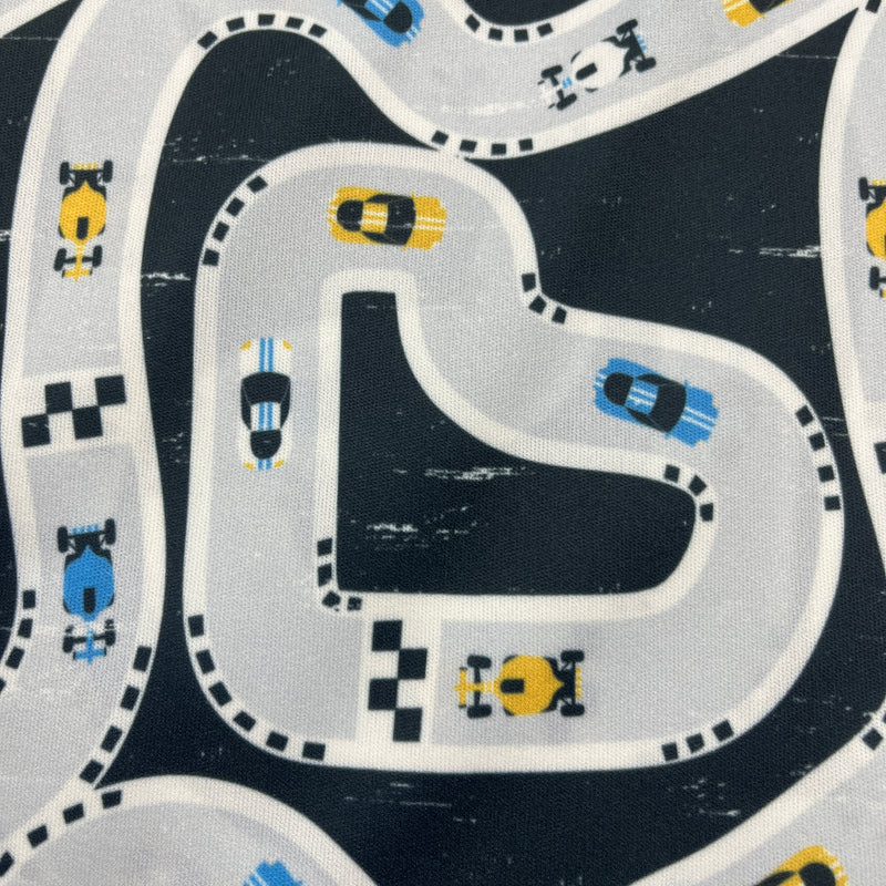 Tropical Fruit on Organic Cotton/Spandex Jersey - Nature's Fabrics