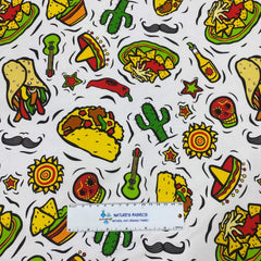 Tacos on Bamboo/Spandex Jersey - Nature's Fabrics