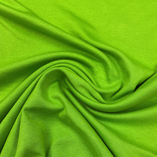 Lime Organic Cotton Rib Knit - Nature's Fabrics