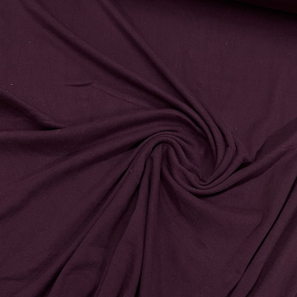 Vintage Plum Organic Cotton Rib Knit - Nature's Fabrics