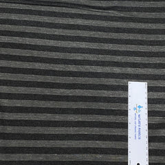 Black and Gray Stripes on Bamboo Jersey - Nature's Fabrics