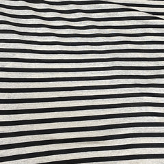 Black and Natural Stripes on Hemp Jersey