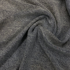Dark Denim Organic Cotton French Terry - Nature's Fabrics