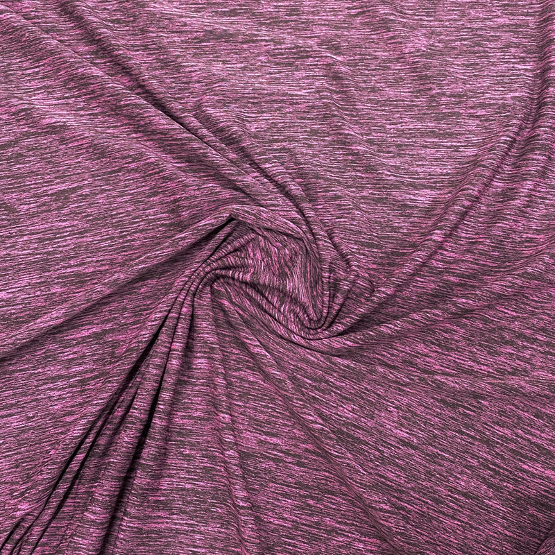 Raspberry Space Dye on Poly/Spandex Jersey