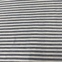 Gray and Natural Stripes on Hemp Jersey - Nature's Fabrics