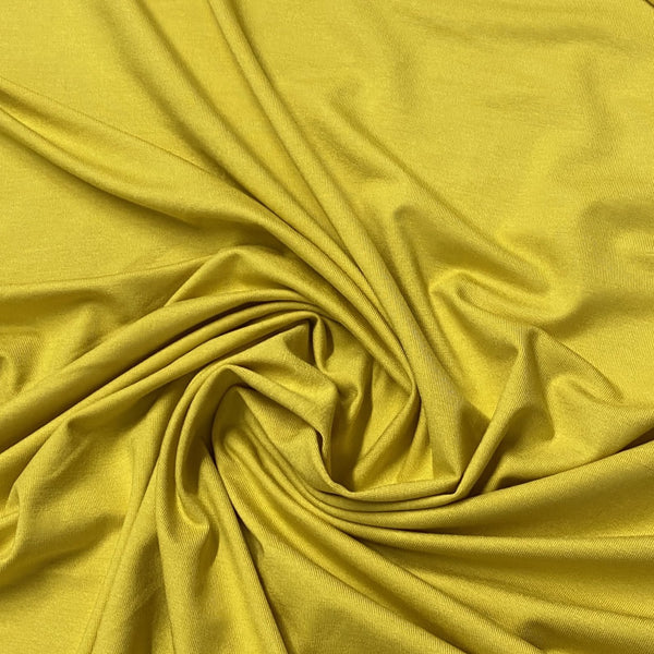 Golden Yellow Bamboo/Spandex Jersey - Nature's Fabrics