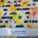 Fall Wildflower Stripes on Bullet Knit - Nature's Fabrics