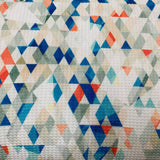 Blue Glass Geometric on Bullet Knit - Nature's Fabrics