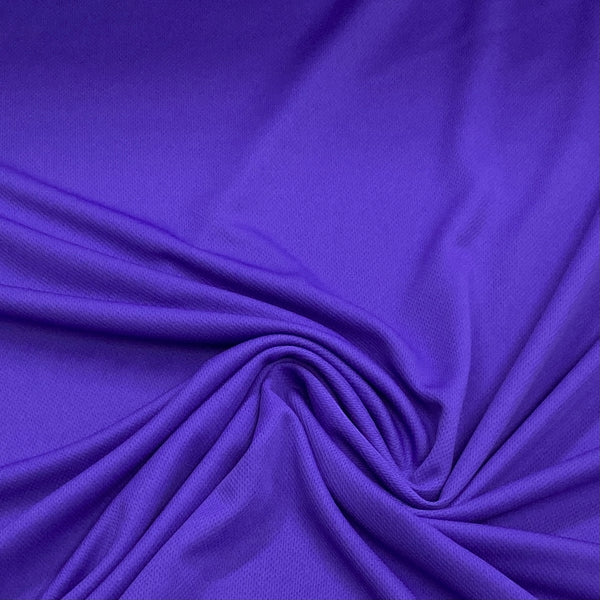 Purple Polyester Athletic Wicking Jersey