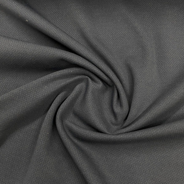 Dark Gray Polyester Textured Jersey