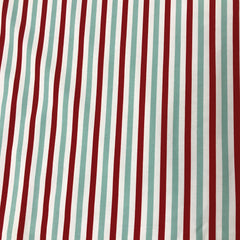 Red Wagon Stripe on Organic Cotton/Spandex Jersey