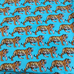 Tigers on Organic Cotton/Spandex Jersey