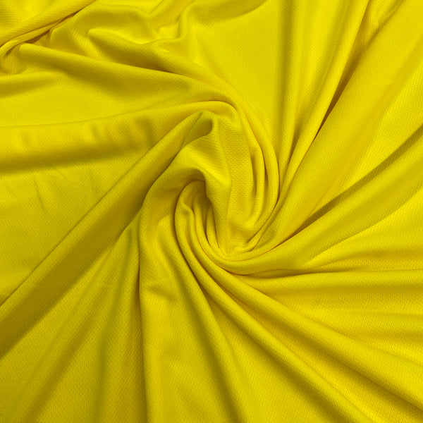 Bright Yellow Polyester Athletic Wicking Jersey