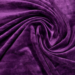 Violet Bamboo Velour, $8.90/yd -Rolls