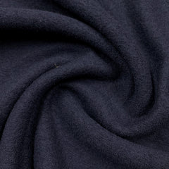 Navy Boiled Wool